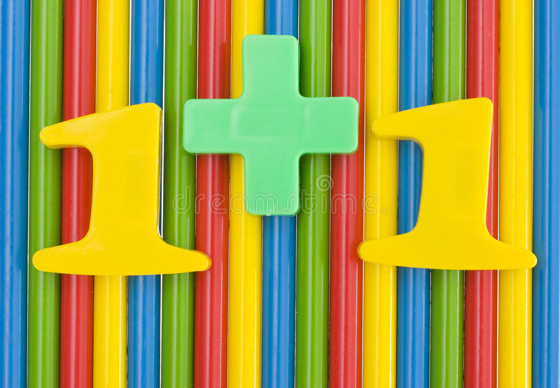 Download Addition With A Color Pencils Stock Image - Image: 2965879