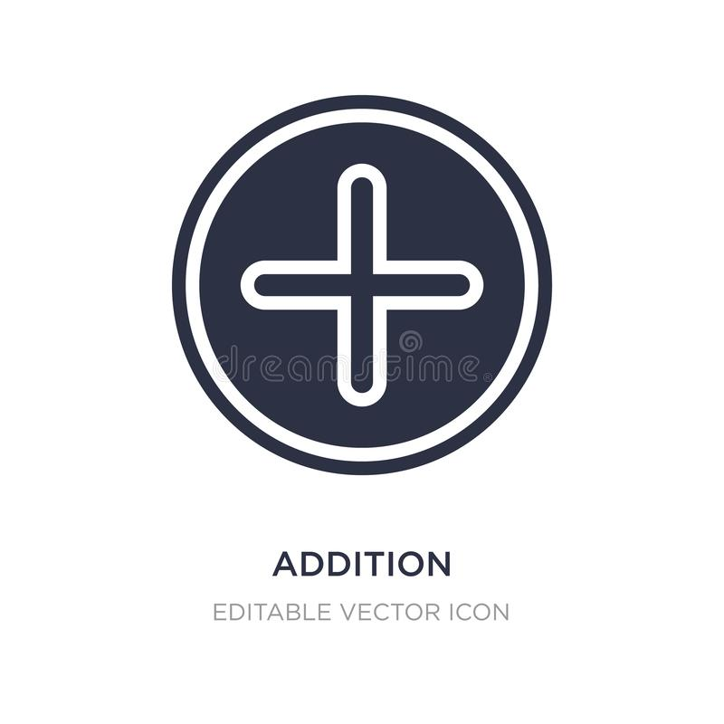 addition icon on white background. Simple element illustration from Signs concept stock illustration