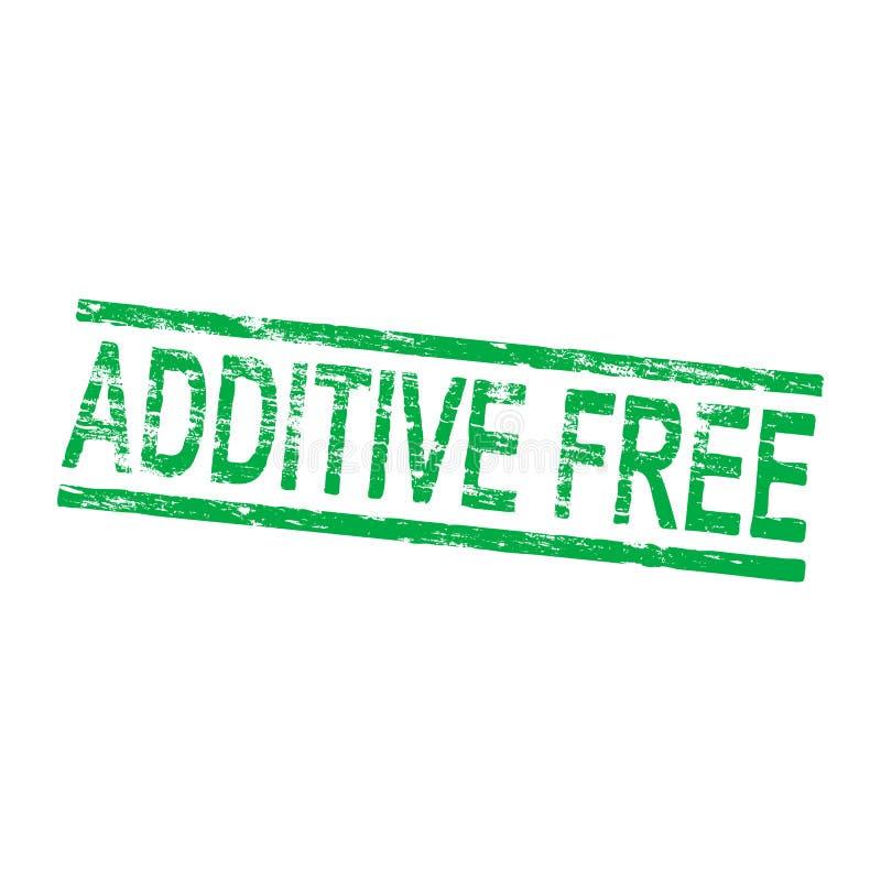 Additive Free Stamp. Additive free grungy rubber stamp vector illustration vector illustration