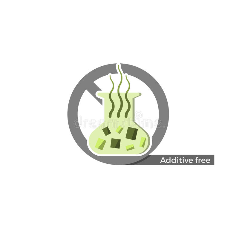 Additives free label royalty free illustration