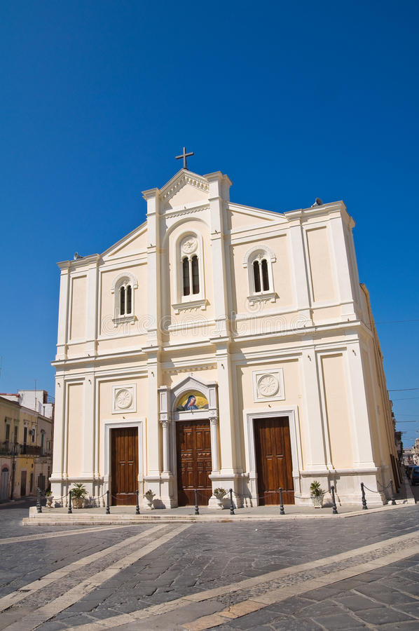 Addolorata教会。切里尼奥拉。普利亚。意大利。 库存图片
