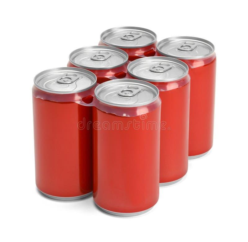 Addominali scolpiti di rosso della soda fotografia stock
