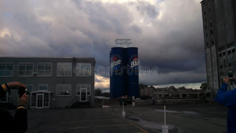 Addominali scolpiti a Riverworks in Buffalo NY immagini stock libere da diritti