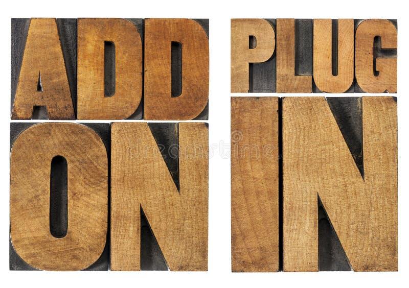 Download Addon和插入式 库存照片. 图片 包括有 打印, 文本, 空白, 木头, 反气旋, 印刷术, grunge - 30329352