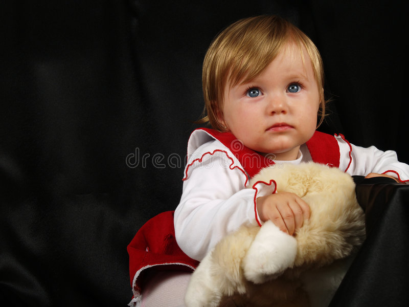 Addorable little baby girl royalty free stock photos