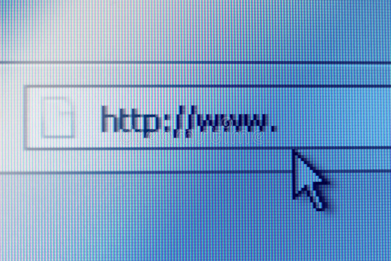 Address bar on computer screen royalty free stock images