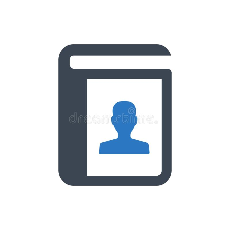 Address book icon. Beautiful, meticulously designed Address book icon royalty free illustration