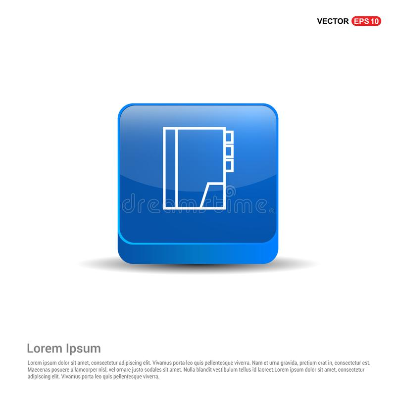 Address book icon - 3d Blue Button. This Vector EPS 10 illustration is best for print media, web design, application design user interface and infographics royalty free illustration