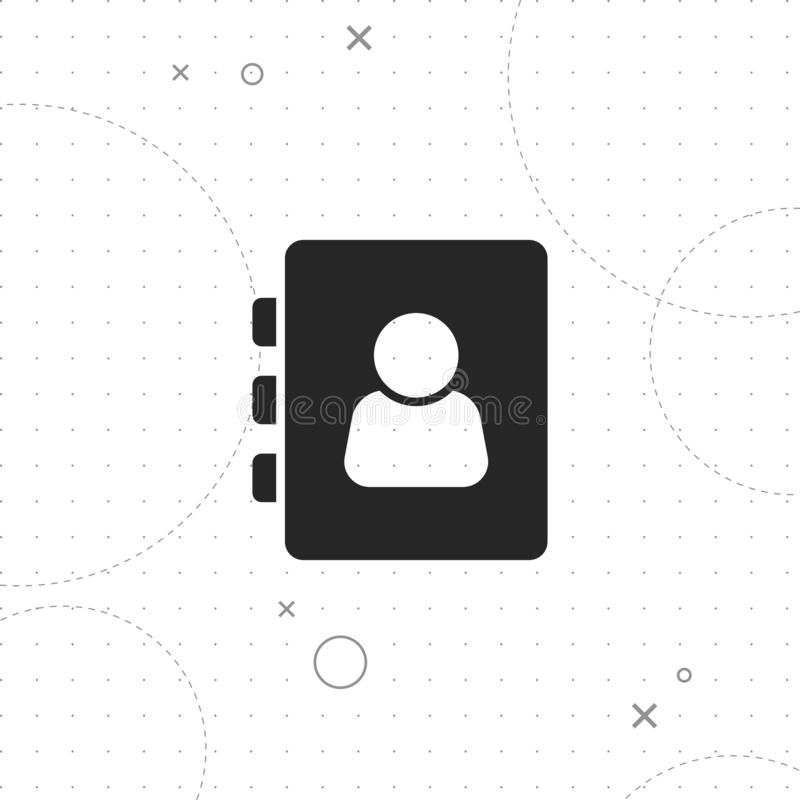 Address book icon. Vector best flat icon on texture background , EPS 10 vector illustration