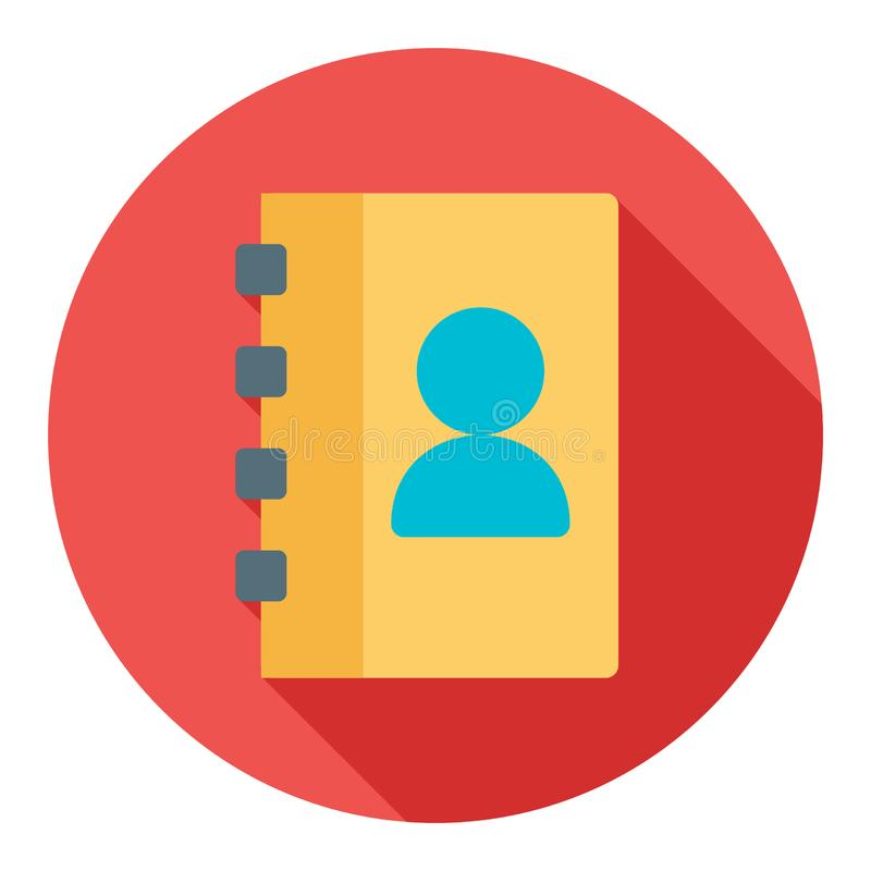 Address book modern style flat icon. Perfect for any project especially web and apps design royalty free illustration