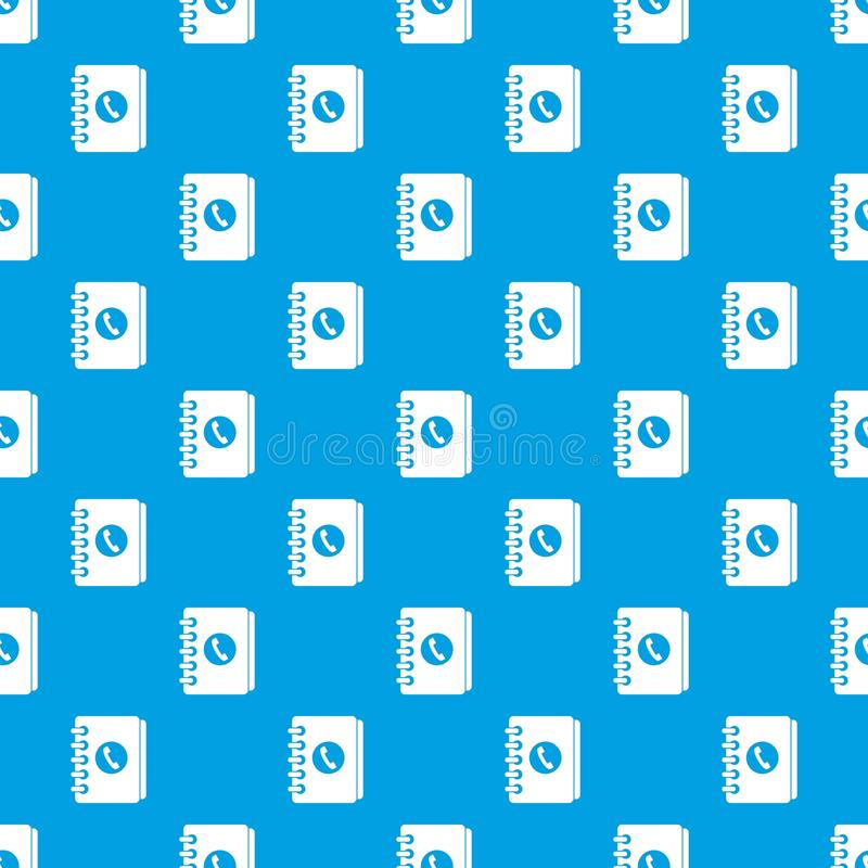 Address book pattern seamless blue. Address book pattern repeat seamless in blue color for any design. Vector geometric illustration stock illustration