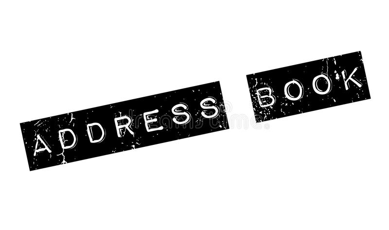 Address Book rubber stamp. Grunge design with dust scratches. Effects can be easily removed for a clean, crisp look. Color is easily changed vector illustration