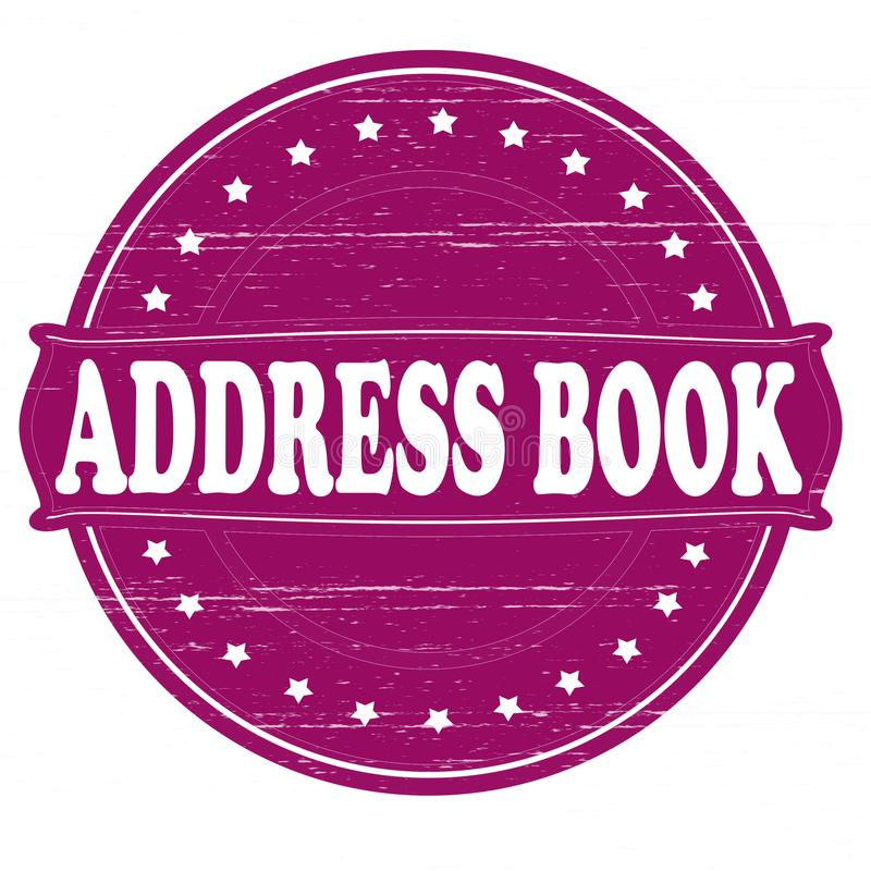 Address book. Stamp with text address book inside, illustratin royalty free illustration