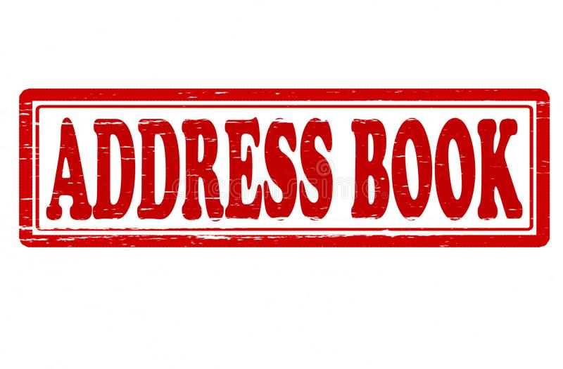 Address book. Stamp with text address book inside, illustration vector illustration