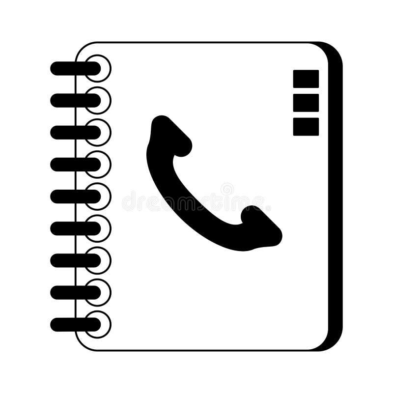 Address book symbol isolated black and white. Address book symbol isolated vector illustration graphic design royalty free illustration