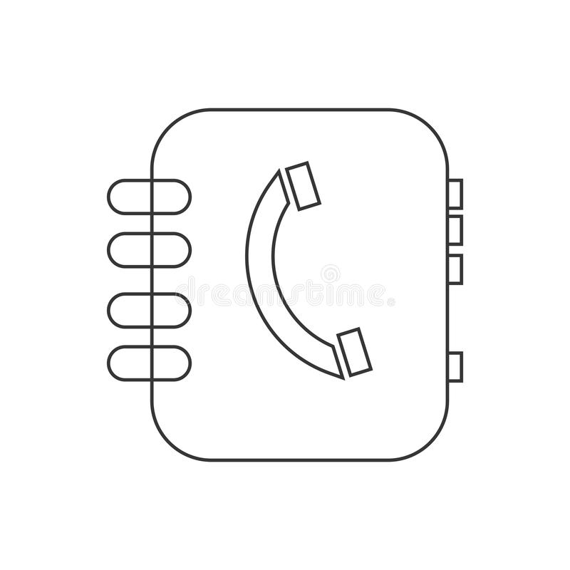 Address book vector. On the white background. Vector illustration royalty free illustration