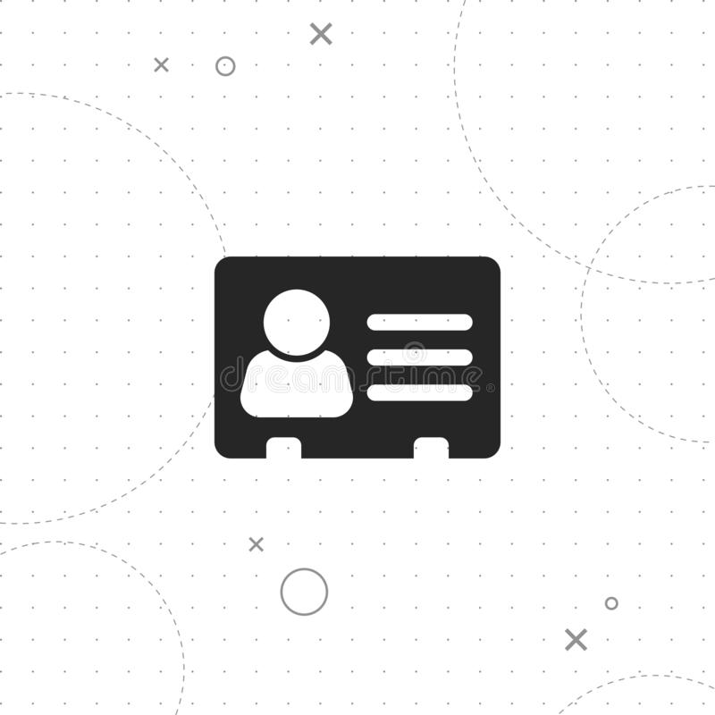 Address card icon. Vector best flat icon on texture background , EPS 10 stock illustration