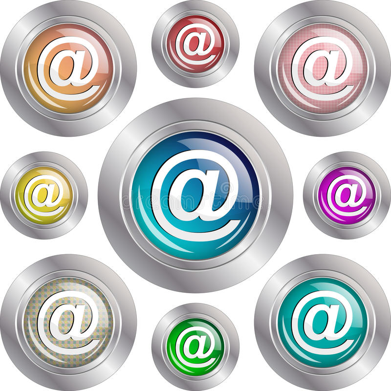 Address glossy buttons. Illustration of address buttons on a white background stock illustration
