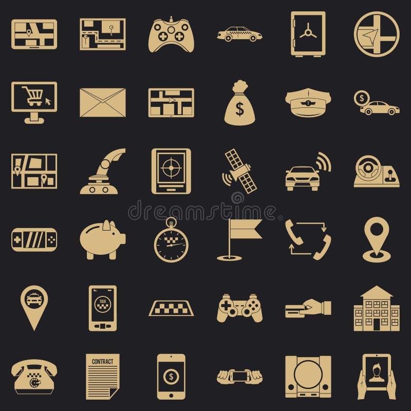 Address icons set, simple style. Address icons set. Simple style of 36 address vector icons for web for any design stock illustration
