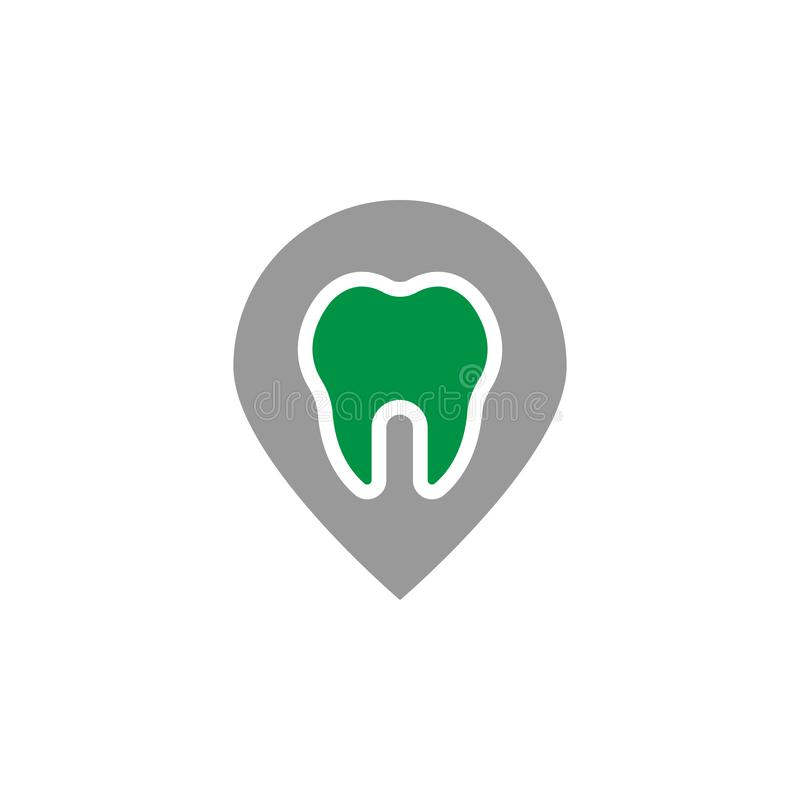 Address and location icon. Element of Dental Care icon for mobile concept and web apps. Detailed Address and location icon can be. Used for web and mobile on vector illustration