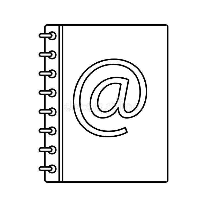 Address mail book vector illustration