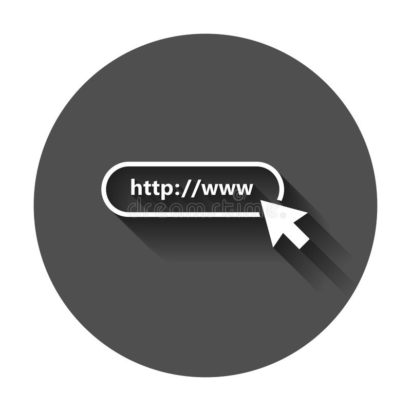 Address and navigation bar icon. Vector illustration with long s. Hadow. Business concept search www http pictogram royalty free illustration