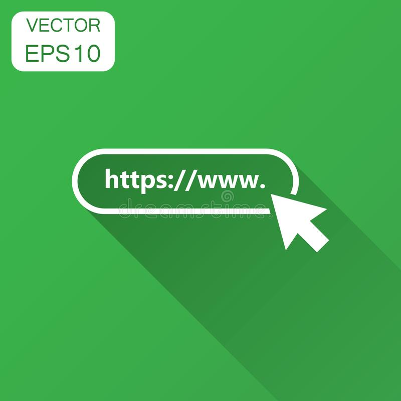 Address and navigation bar icon. Vector illustration with long s. Hadow. Business concept search www https pictogram stock illustration