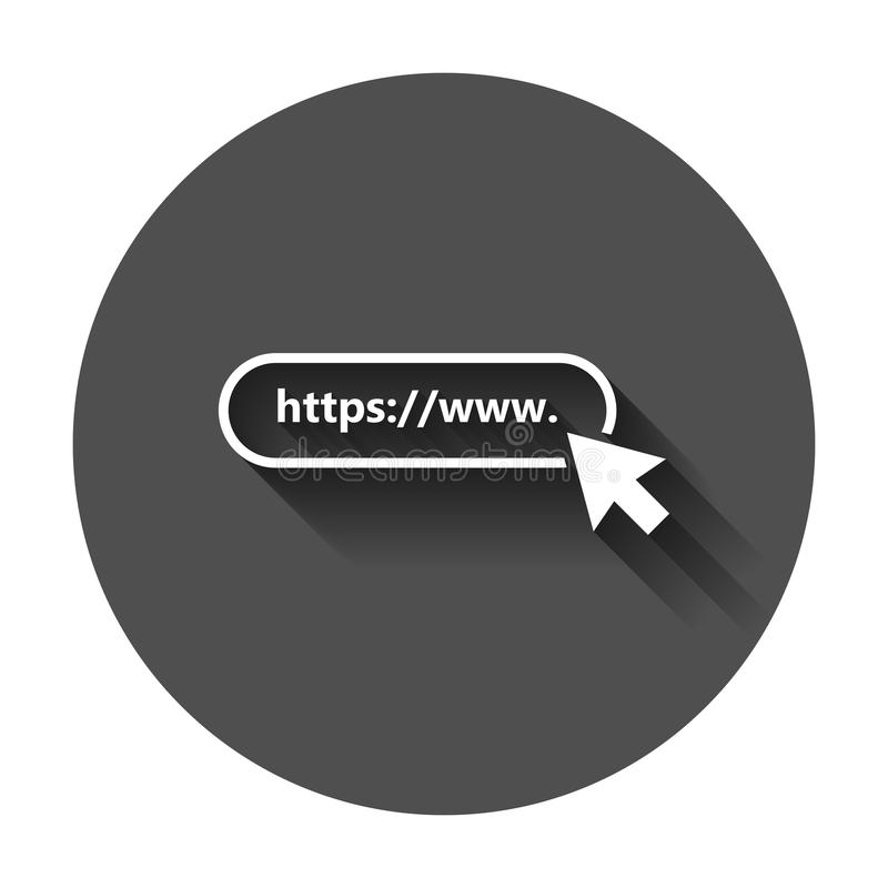 Address and navigation bar icon. Vector illustration with long s. Hadow. Business concept search www https pictogram vector illustration