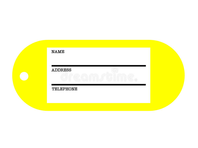 Address tag royalty free illustration