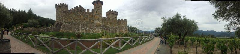 Adega cinzenta San Francisco de Califórnia Napa Valley do céu do castelo fotos de stock royalty free