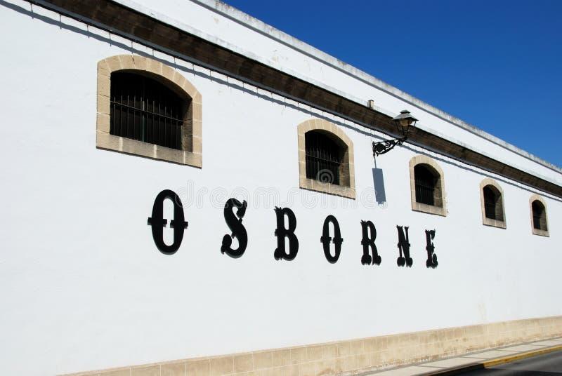 Adega de Osborne, EL Puerto de Santa Maria foto de stock