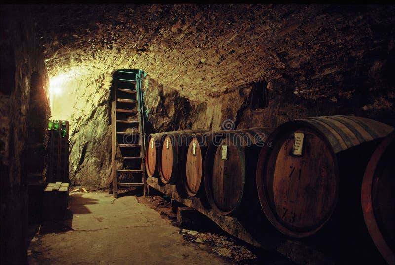 Adega de vinho de pedra velha fotografia de stock royalty free