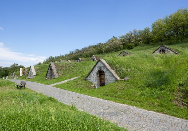 Adegas de vinho de Tokaj em Hercegkut imagens de stock royalty free