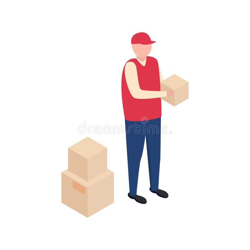 Man with box. royalty free illustration
