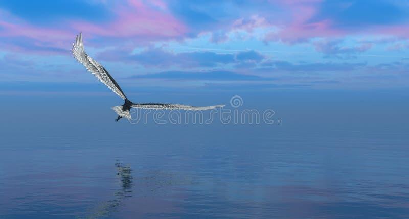 adelaar die gelijk vliegen stock illustratie
