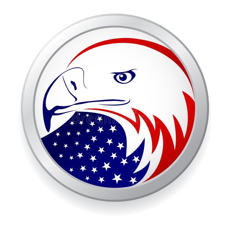 Adelaar met Amerikaanse vlag royalty-vrije illustratie