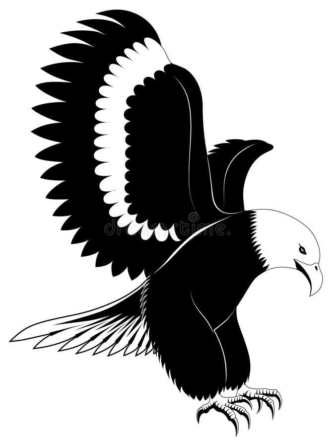 Adelaar, tatoegering vector illustratie
