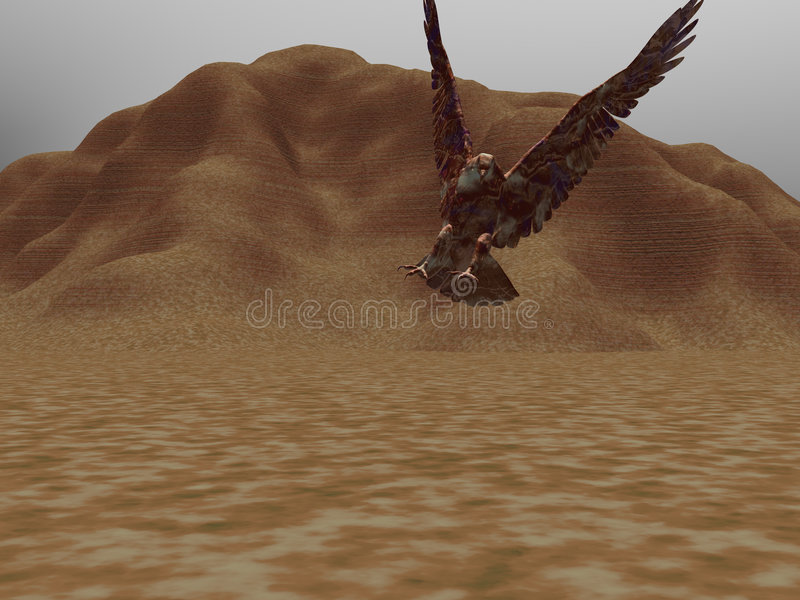Adelaar Twee van de woestijn royalty-vrije illustratie