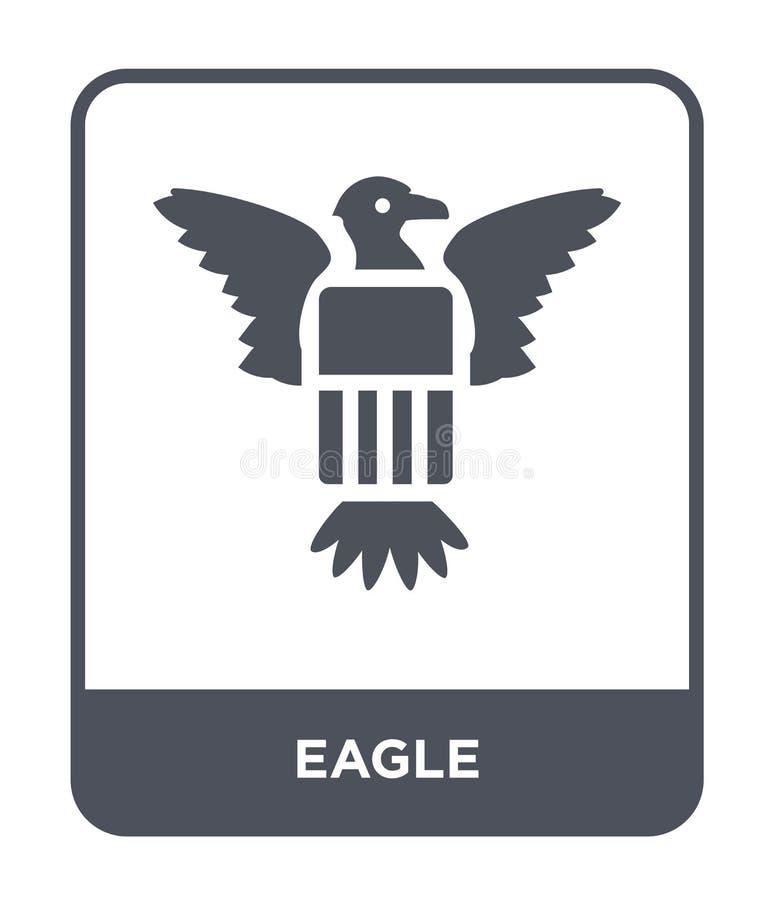 adelaarspictogram in in ontwerpstijl Eagle-pictogram op witte achtergrond wordt geïsoleerd die eenvoudige en moderne vlakke symbo royalty-vrije illustratie