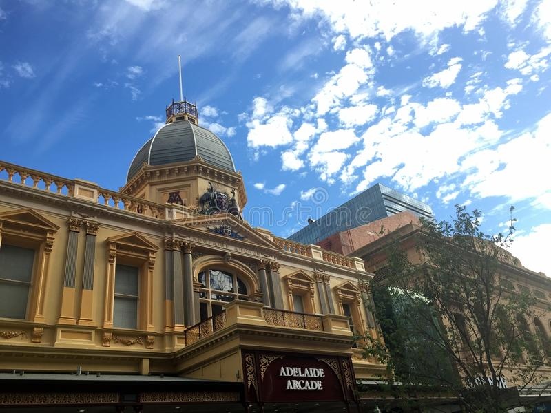 Adelaide Arcade. View over the Adelaide Arcade in Rundle St royalty free stock photo