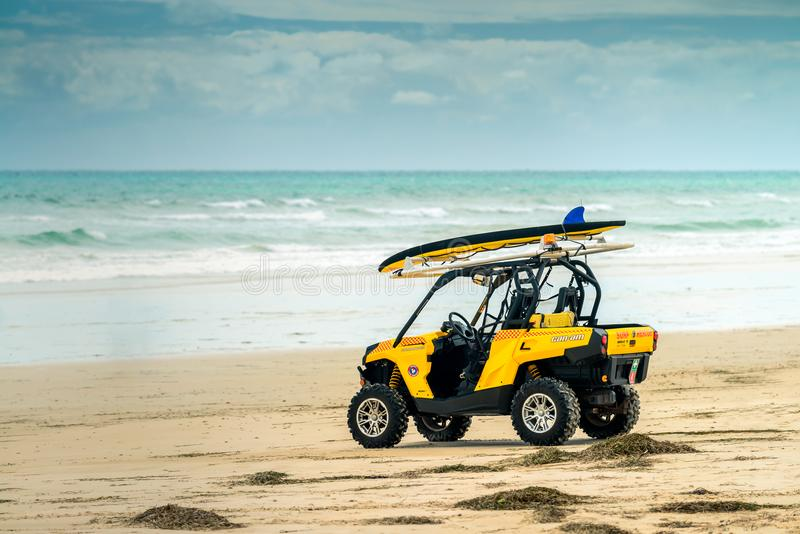 Australian surf rescue life saving car stock photography