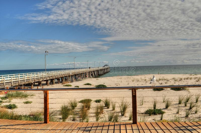 Adelaide Beach. A scenic image of an Adelaide beach royalty free stock photos
