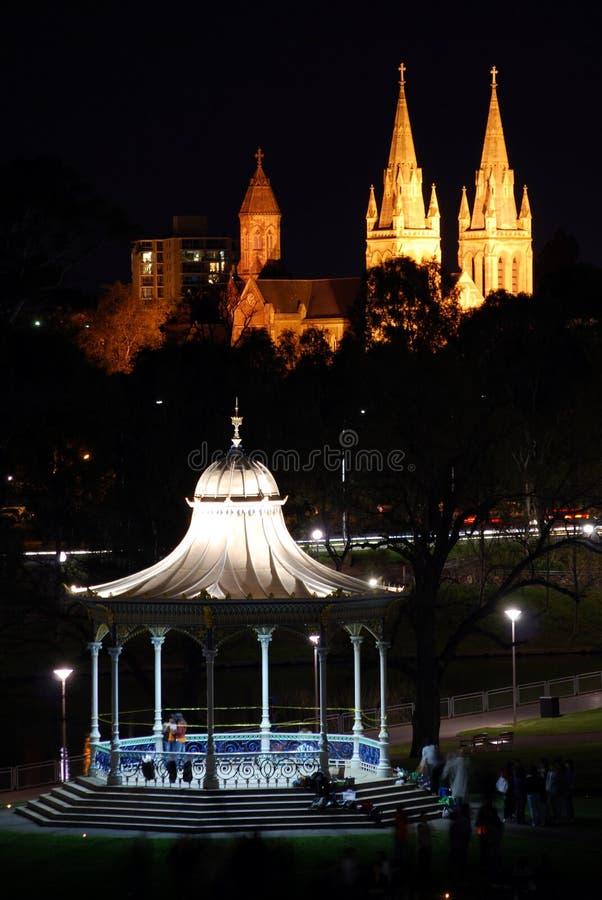 Adelaide bis zum Night stockfotografie
