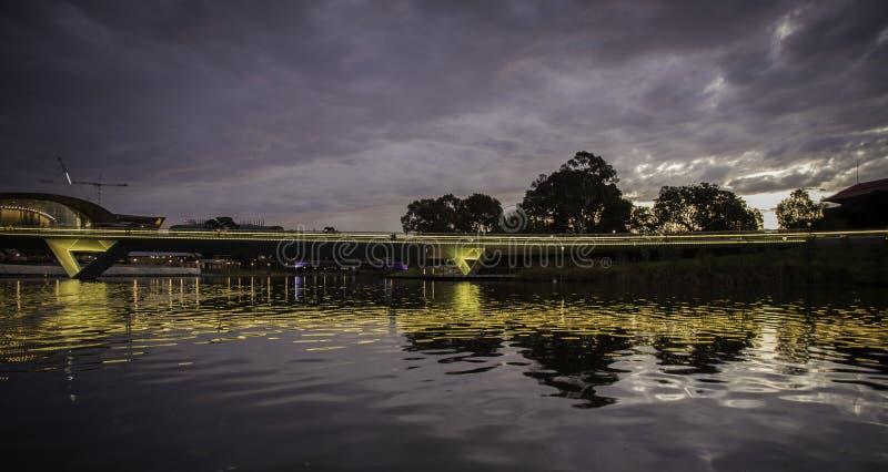 Adelaide - Elder Park - Evening. stock photo