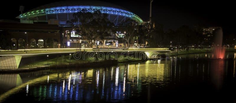 Adelaide - Elder Park - Evening - Telstra Stadium stock photos
