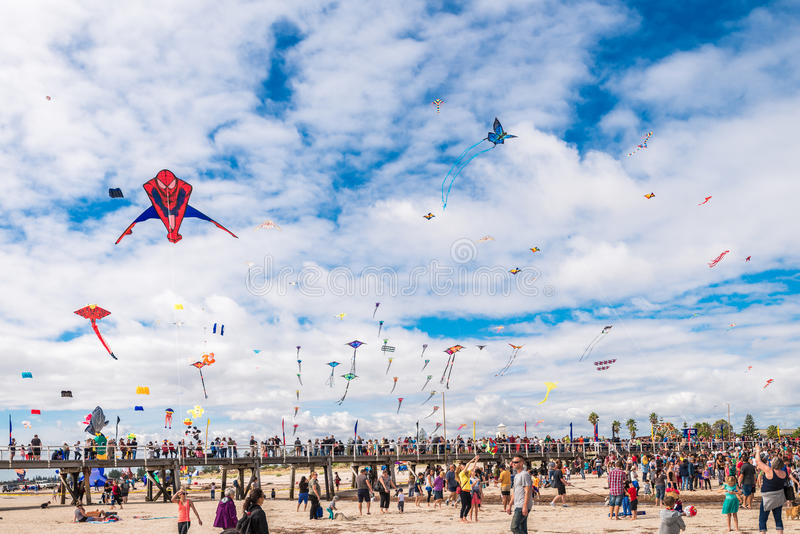 Adelaide International Kite Festival 2016 lizenzfreies stockfoto