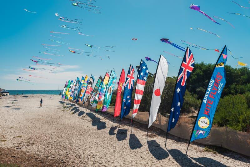 Adelaide International Kite Festival, SA imagem de stock