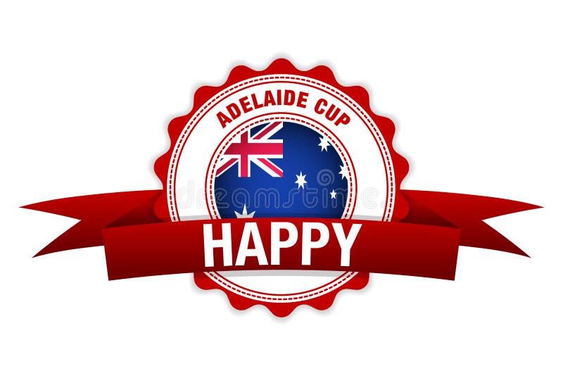 Adelaide kopdag de vlagviering van Australië Vector illustratie vector illustratie