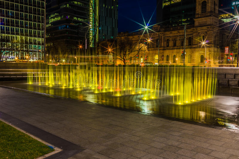 Adelaide Night 8 images stock