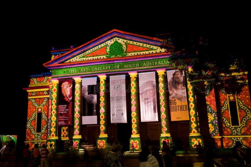 Adelaide-Nordleuchte-Festival 2010 stockbild